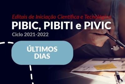 Última semana de inscrições para editais de Pibic, Pibiti e Pivic