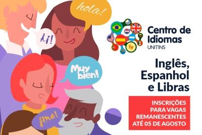 Centro de Idiomas da Unitins abre inscrições para preenchimento de vagas remanescentes
