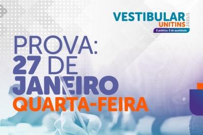 Unitins aplica provas do Vestibular 2021/1 nesta 4ª; confira medidas de proteção e orientações aos candidatos