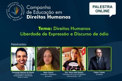 """Proex abre inscrições para roda de conversa sobre """"Direitos Humanos: Liberdade de Expressão e Discurso de Ódio"""""""