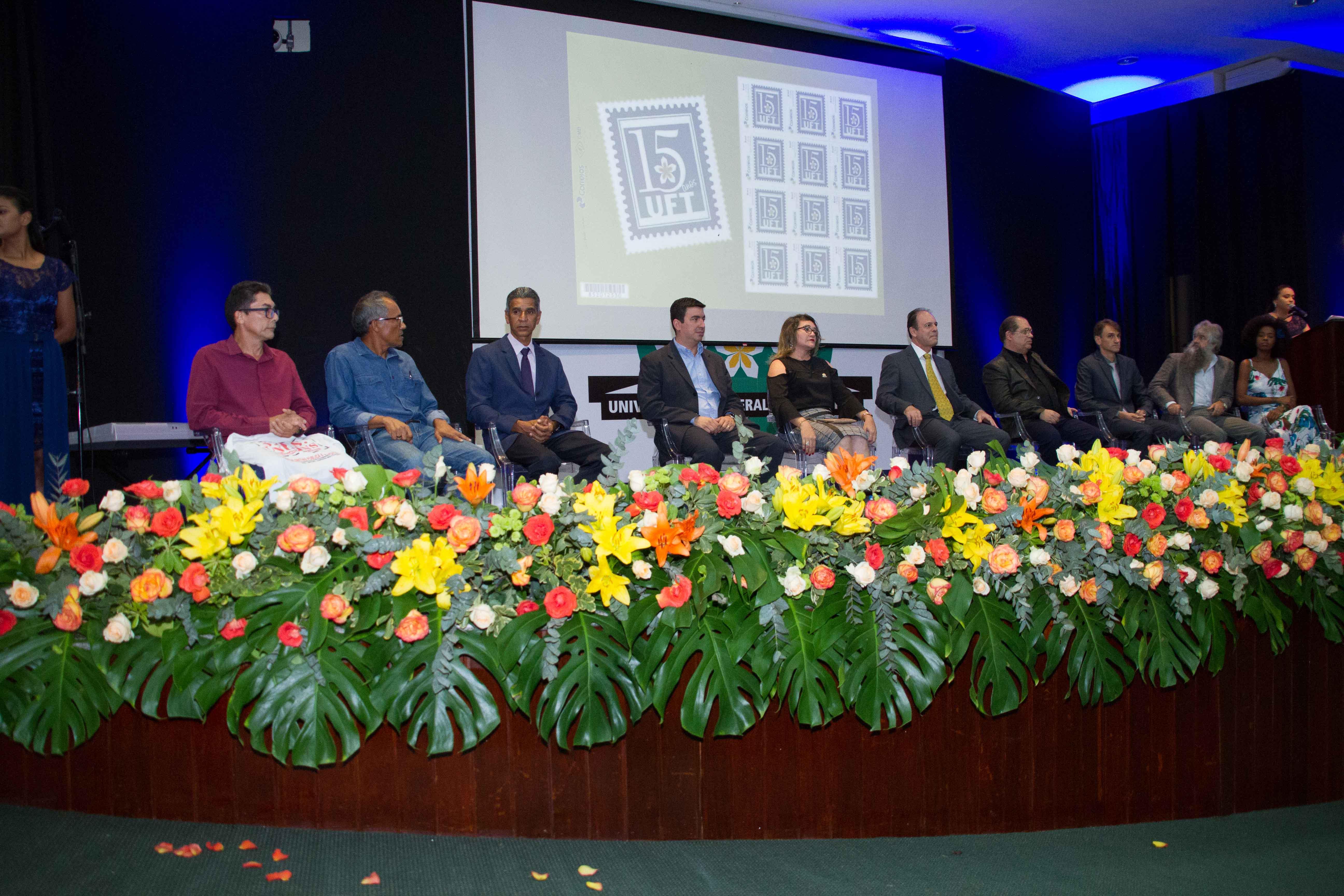 Unitins compõe tribuna de honra no aniversário da UFT