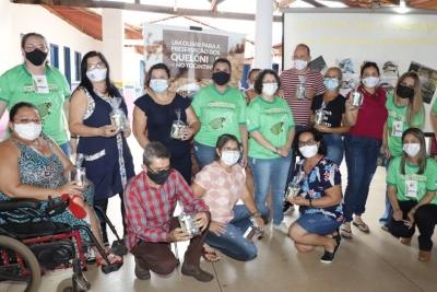 """Projeto """"Um olhar para a preservação dos Quelônios do Tocantins"""" realiza atividade de educação ambiental, em Caseara"""