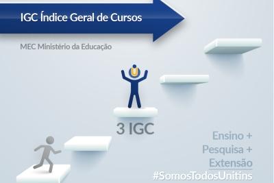Unitins comemora resultado do Índice Geral de Cursos, que confirma evolução dos indicadores de qualidade institucional