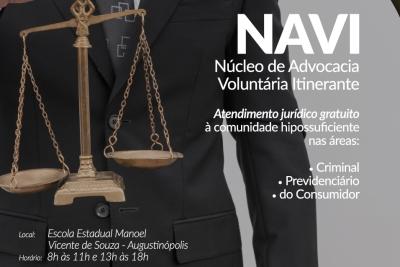 Projeto Navi, finalista do Prêmio Innovare, realiza atendimentos nesta quinta-feira