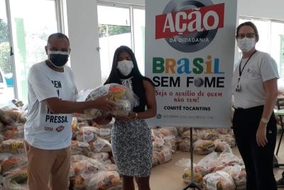 Unitins e DCE fazem parceria com Comitê Ação e Cidadania para destinação de cestas básicas a alunos