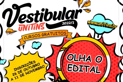 Unitins lança edital para Vestibular 2022/1 com 680 vagas