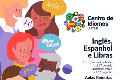 Unitins lança edital com oferta de 360 vagas para cursos de línguas estrangeiras e de Libras